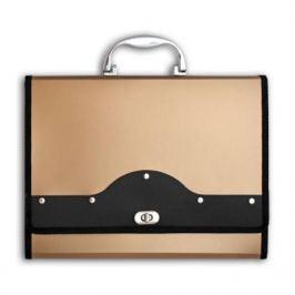 Папка-портфель METALLIC с металлическим замком, 13 отделений, А4, золотая IEF01/GD