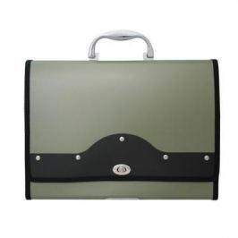 Папка-портфель METALLIC с металлическим замком, 13 отделений, А4, зеленая IEF01/GN