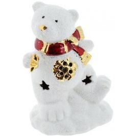 Подсвечник Winter Wings Мишка со звездочкой, светящийся, керамика 12 см N161691