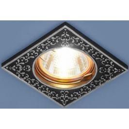 Встраиваемый светильник Elektrostandard 120071 MR16 BK/SL черный/серебро 4690389060328