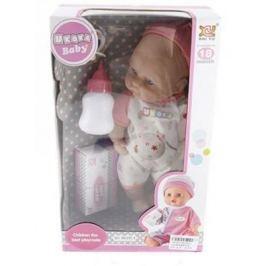 Кукла-младенец Shantou Gepai 8018L4 28 см плачущая смеющаяся говорящая