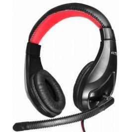 Гарнитура Oklick HS-L100 черный красный