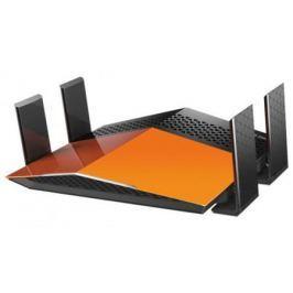Беспроводной маршрутизатор D-Link DIR-879/A1A 802.11aс 1900Mbps 2.4 ГГц 5 ГГц 4xLAN RJ-45 черный оранжевый