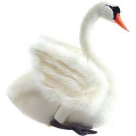 Мягкая игрушка лебедь Hansa Лебедь искусственный мех синтепон белый 27 см 4085