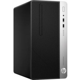 Системный блок HP ProDesk 400 i3-7100 3.9GHz 4Gb 500Gb HD630 DVD-RW Win10Pro клавиатура мышь серебристо-черный 1EY27EA