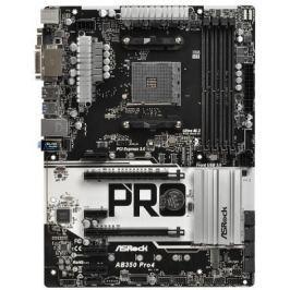 Материнская плата ASRock AB350 PRO4 Socket AM4 AMD B350 4xDDR4 2xPCI-E 16x 4xPCI-E 1x 4 ATX Retail