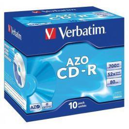 Диски CD-R Verbatim 700Mb 80 min 52-x Crystal AZO 10шт 43327