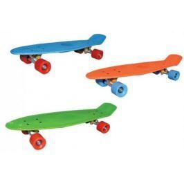 Скейт Navigator пласт.,кол.ПВХ 57х42мм без света, втулки ПВХ, алюм.траки, 68х20х9,5см, 3 цв. оранж, зелен.,голуб.