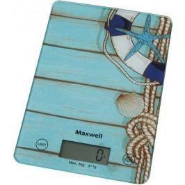 Весы кухонные Maxwell MW-1473 B голубой рисунок