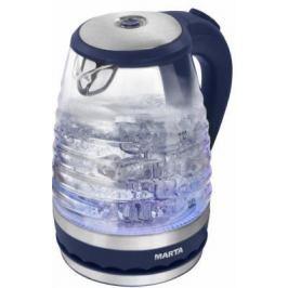 Чайник Marta MT-1085 2200 Вт синий сапфир 1.8 л пластик/стекло
