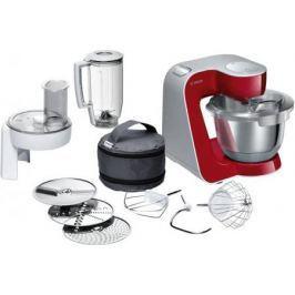 Кухонный комбайн Bosch MUM58720 серебристо-красный