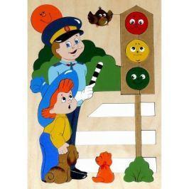 Развивающая игрушка Крона Мозаика-вкладыш дерев. Светофор 143-020