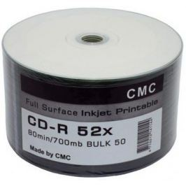 Диски CMC CD-R 80 52x Bulk Full Ink Print 50шт