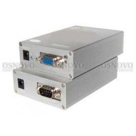 Комплект OSNOVO TA-VD+RA-VD передатчик + приемник для передачи VGA-сигнала DB15 и данных RS-232 DB9 по кабелю витой пары CAT5 RJ4 до 300м