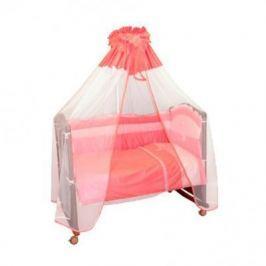 Бампер в кроватку Сонный Гномик Пушистик (розовый)
