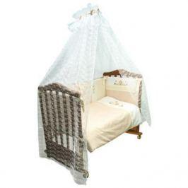 Бампер в кроватку Сонный Гномик Кантри (бежевый)