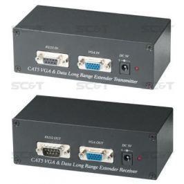 Комплект SC&T VE01S-2 передатчик VE01ST+приёмник VE01SR для передачи VGA + RS232/485 по витой паре неэкранированной до 300м