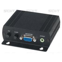 Приемник SC&T работает совместно с VE02ALT VE05ALT и другими модулями VE02ALR при каскадном соединении увеличивает дальность передачи сигнала на 300м