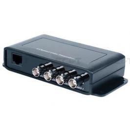 Приемопередатчик видеосигнала SC&T TTP414VH 4-канальный по витой паре на 600 м
