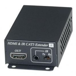 Приёмник SC&T HE02EIR для HDMI сигнала и сигнала ИК по одному кабелю витой пары CAT6 до 70м