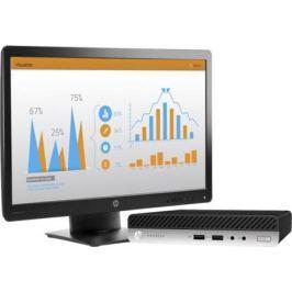 """Неттоп 23"""" HP Bundle 400 G3 Mini 1920 x 1080 Intel Core i3-7100T 4Gb 500Gb Intel HD Graphics 630 Windows 10 Professional черный 1KN78EA"""