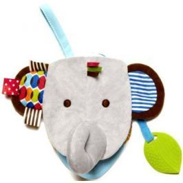 Мягкая игрушка слоник Skip Hop Книжка-слон серый 17 см