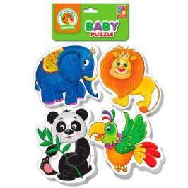 Мягкий пазл Vladi toys Baby puzzle Зоопарк 18 элементов VT1106-50