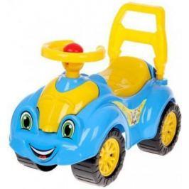 Каталка-машинка ТехноК Автомобиль для прогулок желто-голубой от 1 года пластик 3510