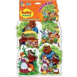 """Мягкий пазл 16 элементов Vladi toys Baby puzzle Сказки """"Теремок"""" VT1106-35"""