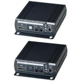 Комплект SC&T HE02N для передачи HDMI + Ethernet + ИК управление + RS232 + ARC по одному кабелю витой пары на расстояние до 100м