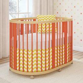 Кроватка овальная 120х90см Giovanni TreeO (coral)