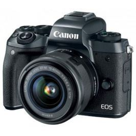 "Фотоаппарат Canon EOS M5 24Mpix 3"" 1080p WiFi 18-150 IS STM f/ 3.5-6.3 LP-E17 черный 1279C022"