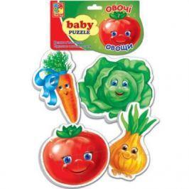 Мягкий пазл Vladi toys Baby puzzle Овощи 16 элементов