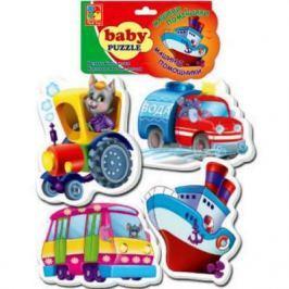 Мягкий пазл Vladi toys Baby puzzle Транспорт 15 элементов