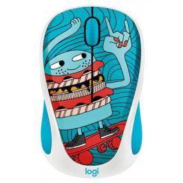 Мышь беспроводная Logitech M238 Doodle Collection синий рисунок USB 910-005052