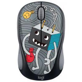 Мышь беспроводная Logitech M238 Doodle Collection чёрный рисунок USB 910-005049