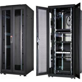 """Шкаф напольный 19"""" 42U Estap CLD70642U6012BF1R1 600x1200mm передняя дверь одностворчатая перфорированная задняя дверь двустворчатая перфорированная черный"""