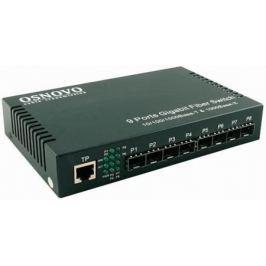 Коммутатор Osnovo SW-70108 неуправляемый 1 порт 10/100/1000Mbps 8xSFP
