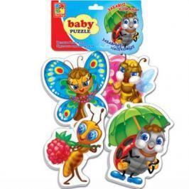 Мягкий пазл 15 элементов Vladi toys Baby puzzle Насекомые VT1106-06