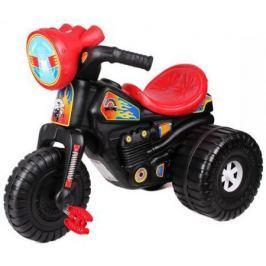Каталка-машинка ТехноК Мотоцикл Гонки с педалями 4135 черно-красный от 3 лет пластик