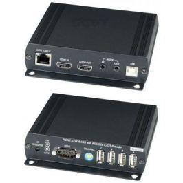 Удлинитель SC&T HKM01 HDMI KVM по Ethernet до 150м