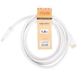 Кабель HDMI 1.8м VCOM Telecom V1.4+3D белый CG150SW-1.8M