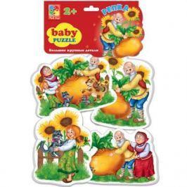 "Мягкий пазл Vladi toys Baby puzzle Сказки ""Репка"" 16 элементов"