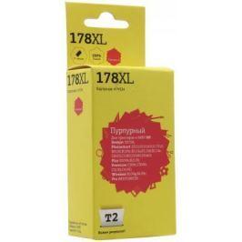 Картридж T2 №178XL для HP Deskjet 3070A/Photosmart 6510/7510/B110/C8583 пурпурный с чипом 750стр CB324HE