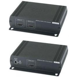 Удлинитель SC&T HKM01E HDMI KVM по Ethernet до 120м