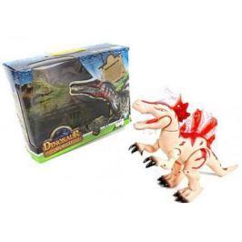 Интерактивная игрушка Shantou Gepai Dinosaur World от 3 лет бежевый свет, звук, 8804