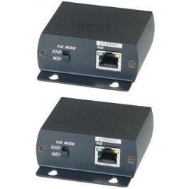 Комплект SC&T IP01P для передачи сигнала Ethernet и питания PoE по коаксиальному кабелю RG6 до 300м