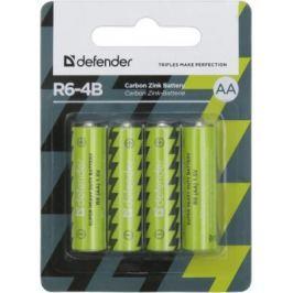 Батарейки Defender R6-4B AA 4 шт 56112