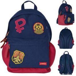 Городской рюкзак с анатомической спинкой Action! Из России с любовью синий красный АВ11106