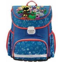 Ранец ортопедический HAMA Monsters 18 л синий красный 00139072